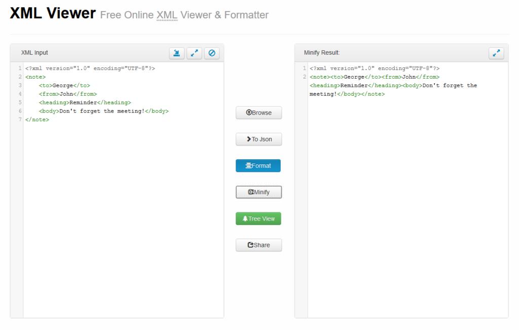 XML Viewer Online