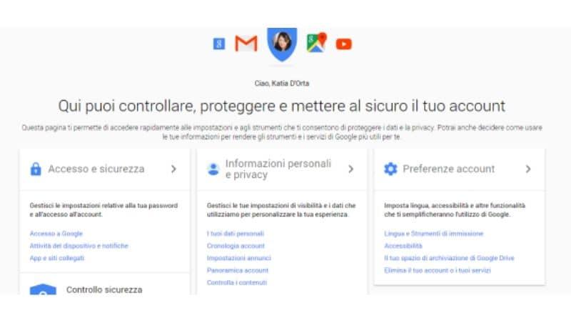 Come eliminare account Google, la guida