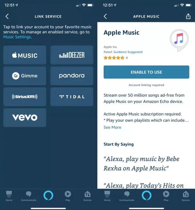 Come collegare Apple Music ad Alexa