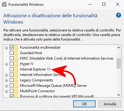 Come disinstallare Internet Explorer 11
